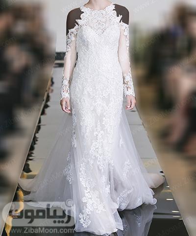 لباس عروس گیپوری و آستین بلند جدید