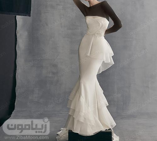 لباس عروس پری دریایی حریری و جدید