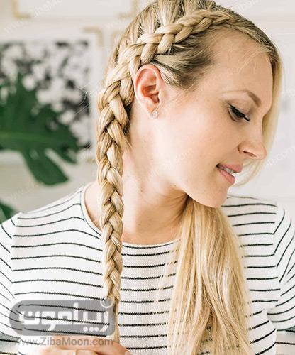 بستن انتهای مو با کش