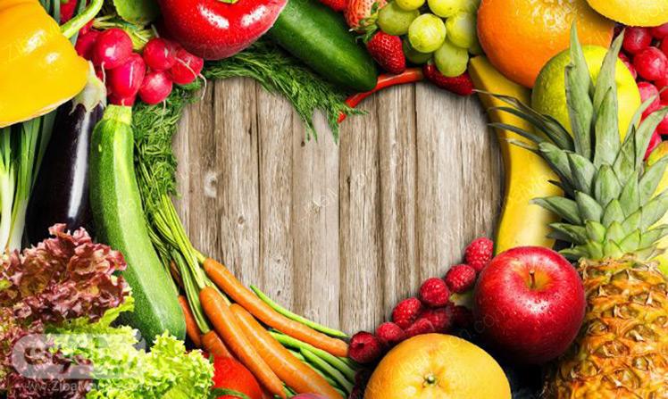 میوه و سبزیجات سالم و تازه