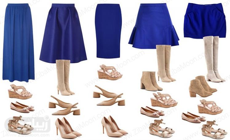 مدل های مختلف دامن و کفش مناسب