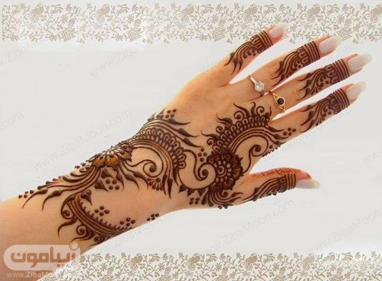 نقش حنا عربی ظریف و زیبا