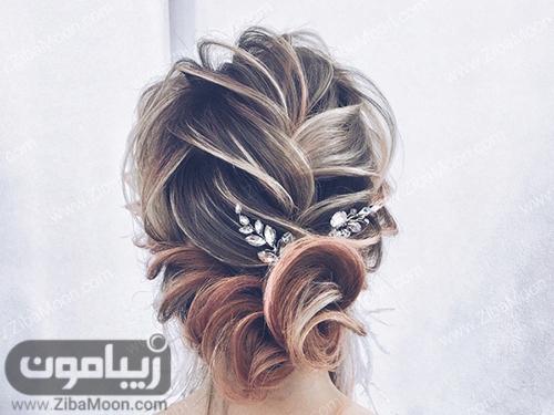 شنیون مو حرارتی جدید برای عروس