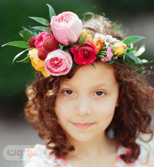 تاج گل طبیعی و بزرگ برای دختر بچه ها در مراسم عروسی