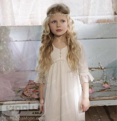 مدل مو دختر بچه با هدبند ظریف برای عروسی