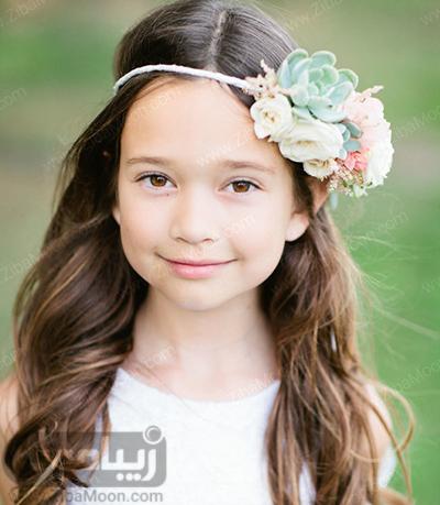 مدل مو ساده با هد بند شیک برای دختر بچه ها