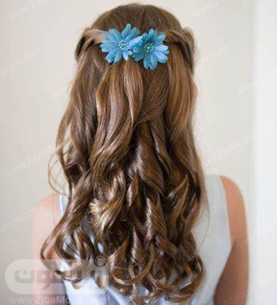 مدل مو موج دار  زیبا بچگانه برای عروسی
