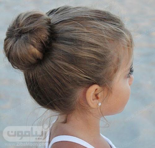 مدل مو گوجه ای زیبا برای دختر بچه