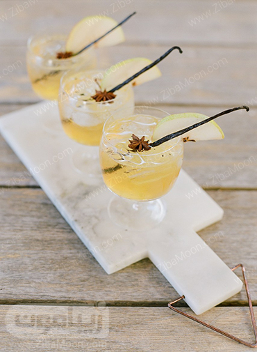 مدل سرو نوشیدنی در فصل پاییز