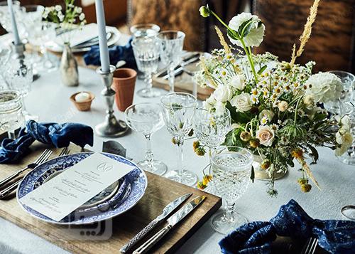 چیدمان میز شام عروسی