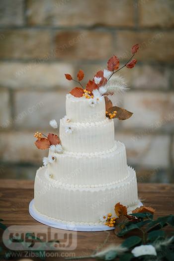 کیک عروسی پاییزی