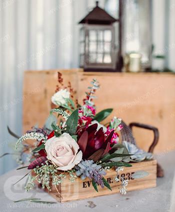 گل آرایی شیک و زیبا برای عروسی پاییزی