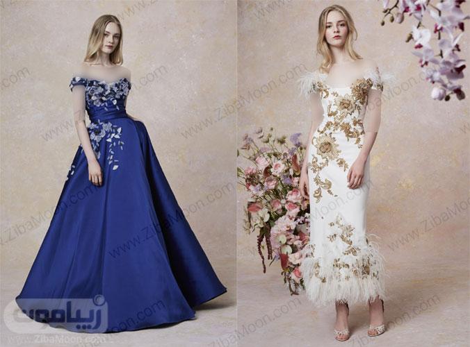 دو مدل لباس دست دوز شب از کلکسیون 2019