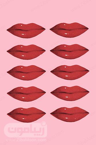 لب های قرمز و خوشرنگ