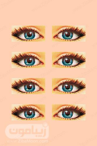چشم های زیبا و آبی رنگ