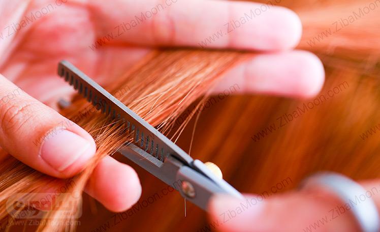 کوتاه کردن انتهای مو
