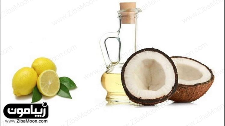 روغن نارگیل و لیمو برای مو