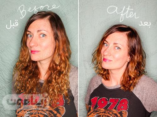 قبل و بعد از کوتاهی مو