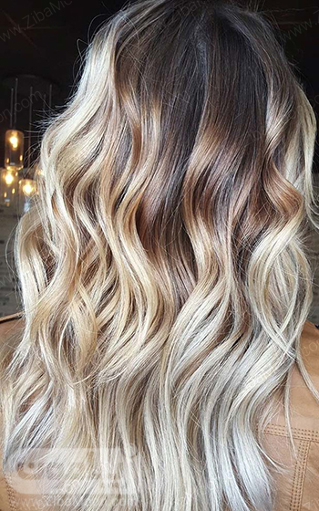 رنگ مو بلوند یخی