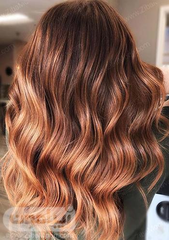 رنگ مو هلویی