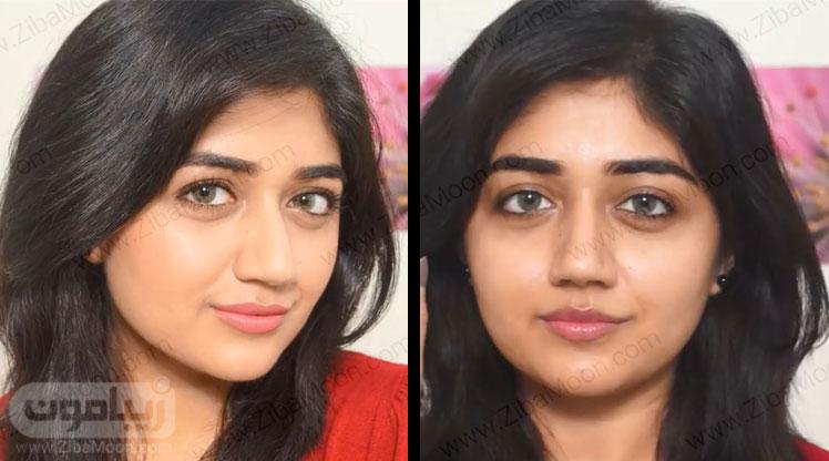 قبل و بعد از آرایش ملایم