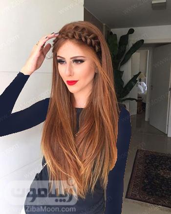مدل بافت مو دخترانه به شکل تل برای موهای بلند و جذاب