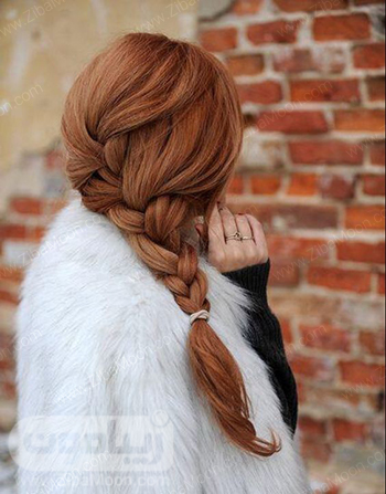 مدل بافت مو شیک و زیبا به شکل یکطرفه