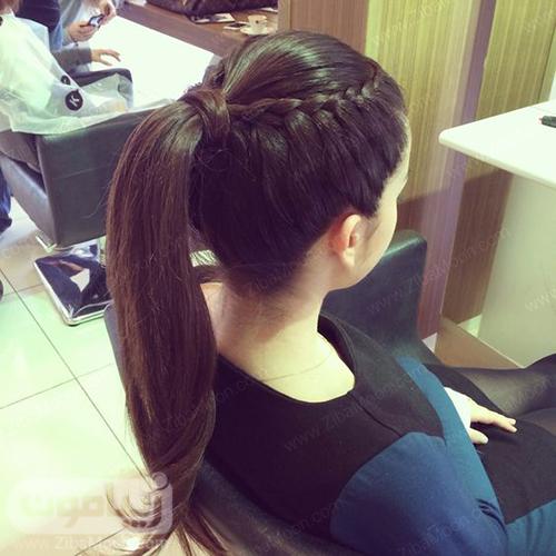 مدل مو دم اسبی با بافت مو یکطرفه