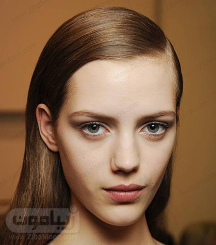 مدل موی یکطرفه صاف و لخت