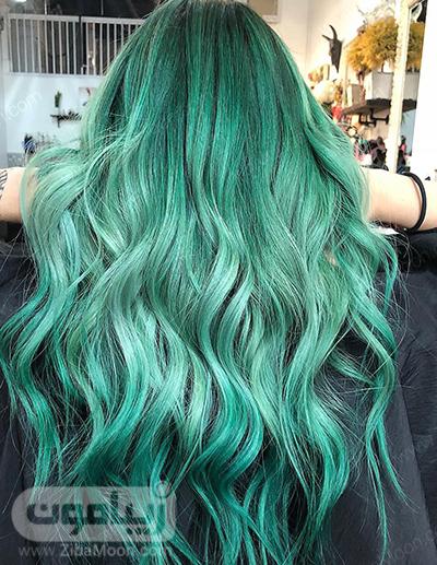 رنگ مو فاننتزی سبز دریایی