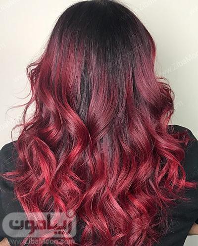 رنگ مو شرابی ذوب شده
