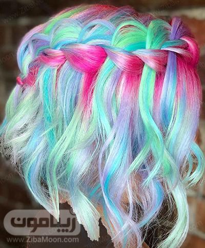 رنگ مو پری دریایی خاص و متفاوت