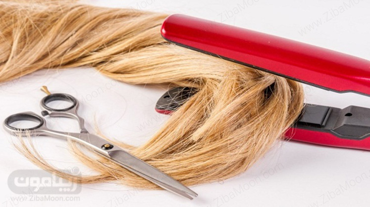 موی بلوند و قیچی
