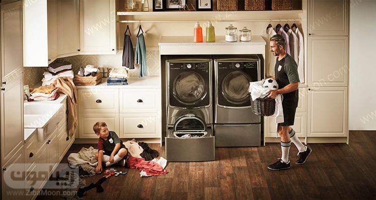 نظافت منزل و شستن لباس