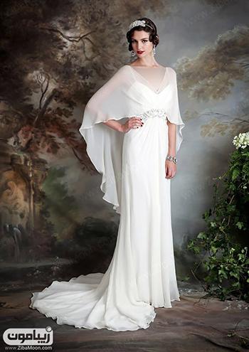 شنل عروس حریری و ساده