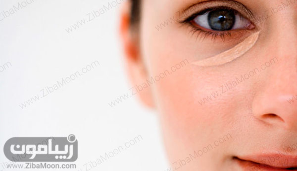 کانسیلر در گوشه چشم