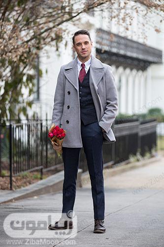 استایل رسمی و شیک مردانه با کت و شلوار و پالتو برای ولنتاین 2019