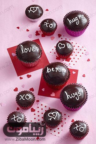 کاپ کیک عاشقانه شکلاتی