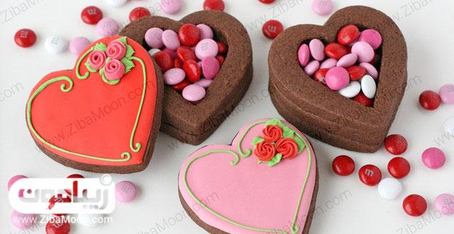 شیرینی قلب ولنتاین