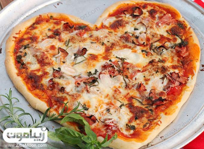 پیتزا قلب ولنتاین