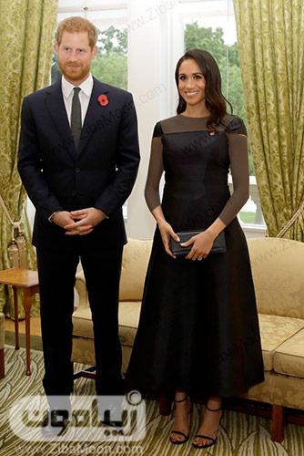 پرنس هری و مگان مارکل با استایل مشکی