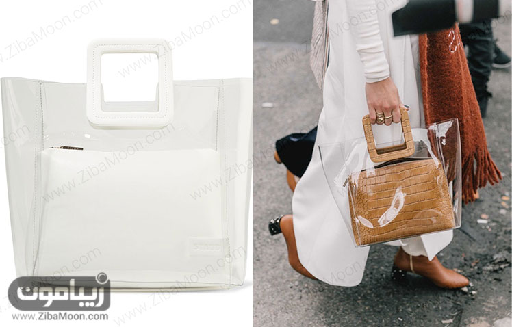 کیف بزرگ زنانه شفاف