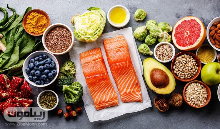 مواد غذایی طبیعی و تازه