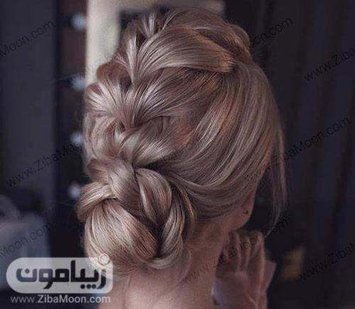 بافت مو شیک و مرتب برای عروسی