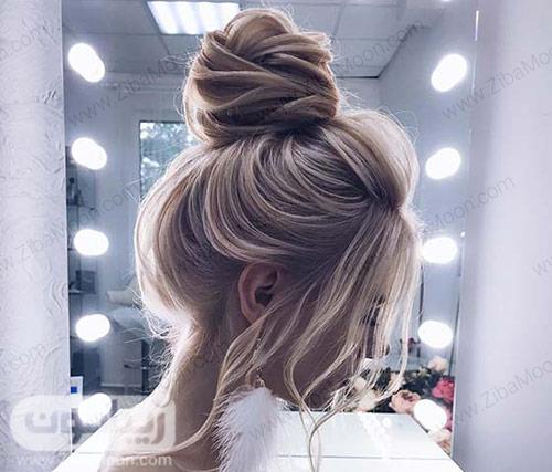 شینیون مو دخترانه در بالای سر