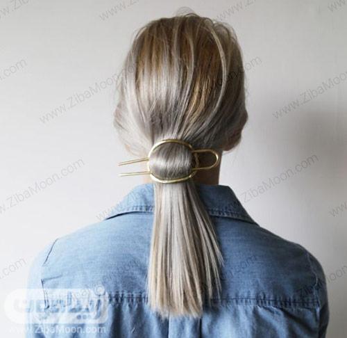 مدل مو دم اسبی برای موهای متوسط