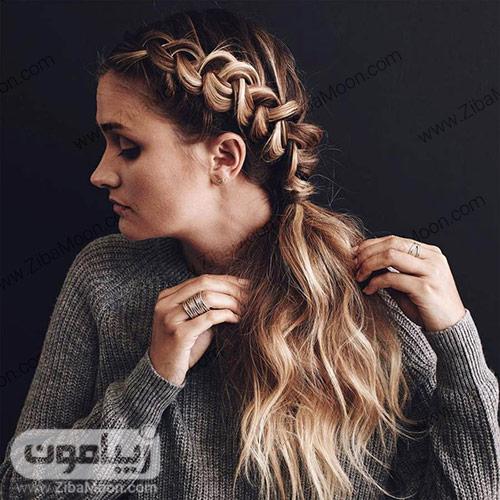مدل مو دم اسبی یک طرفه با بافت مو زیبا