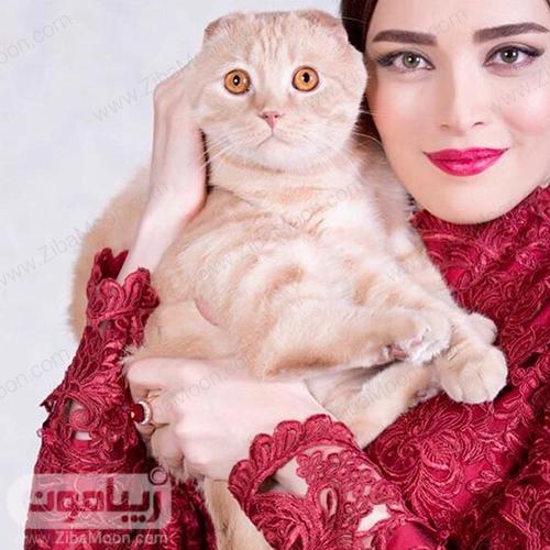 عکس بهنوش طباطبایی با گربه