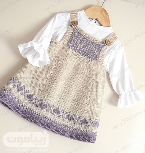 مدل لباس بافتنی نوزادی دخترانه شیک و زیبا