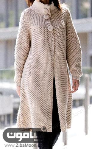 مدل مانتو بافتنی دخترانه شیک و ساده